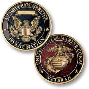 Marines Coin: Career Of Service
