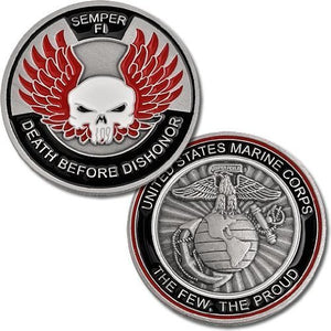 Marines Coin: Death Before Dishonor