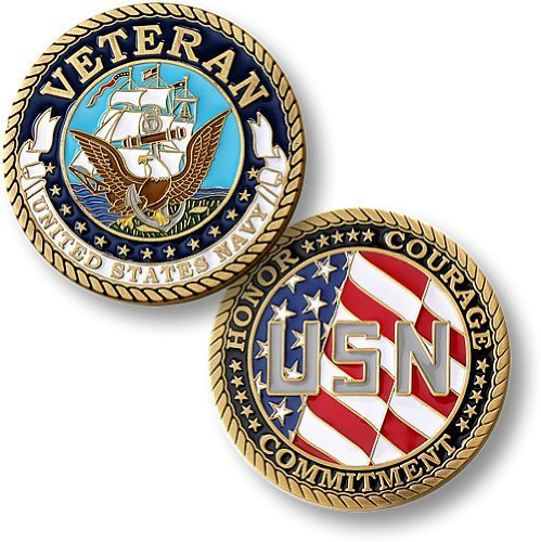 Navy Coin: Veteran (Enamel)