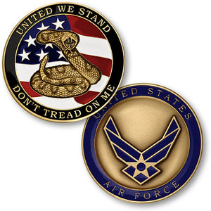Air Force Coin: Don't Tread On Me