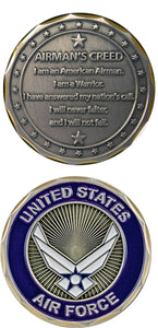 Air Force Coin: Airman's Creed