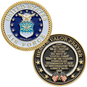 Air Force Coin: Hero's Valor Prayer