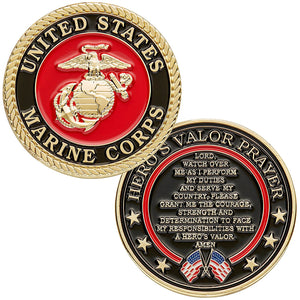Marines Coin: Hero's Valor Prayer
