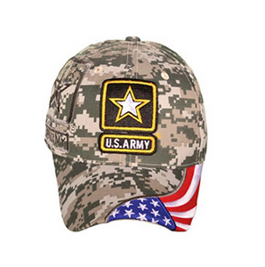 Army Hat: Logo With Digi Camo Pattern