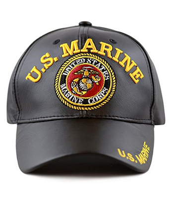 Marines Hat: Faux Leather Look