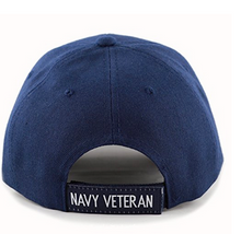 Navy Hat: Veteran (Embroidered)
