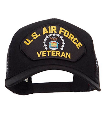 Air Force Hat: Veteran (Classic, Black)