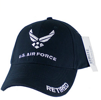 Air Force Hat: Retired (Baseball style, Navy)
