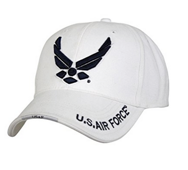 Air Force Hat: Logo (White)