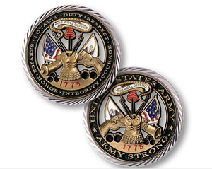 Army Coin: US Army Core Values Challenge Coin