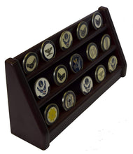 Challenge Coins Display unit - Cherry wood finish