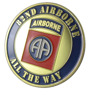 "Army coin: U.S. ARMY 82ND AIRBORNE ""all the way"" Coin"
