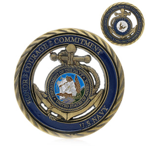 Navy Coins: U.S. Navy Commemorative Challenge Coin