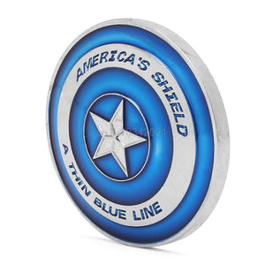 "Police Commemoration Coin  ""Blue Lives Matter"" Police America's Shield Commemorative Challenge Coin"