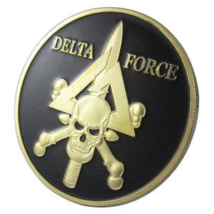 Army Coin: United States Military DELTA FORCE Gold Plated Challenge Coin