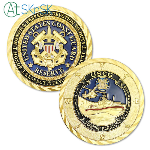 Coast Guard Coin: United States Coast Guard Reserve Security Detachment Challenge Coin