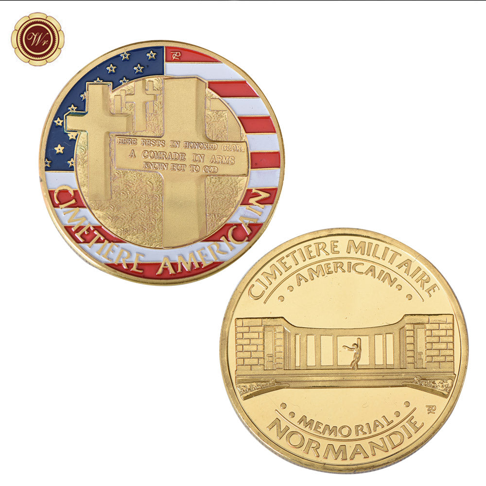 American War Cemetary Memorial Coin Nomandy