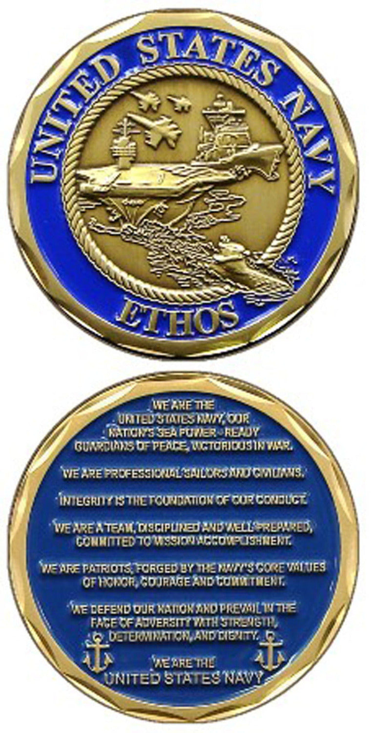 Navy Coin: USN Ethos Challenge Coin