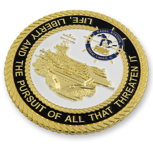 Navy Coin: US aircraft carrier Military Challenge Coin