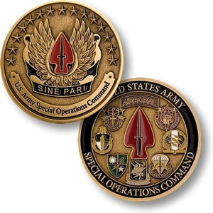 Army Coin: U.S. Army Special Operations Command - Sine Pari
