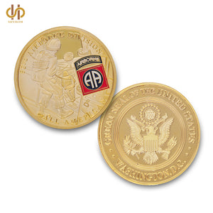 Army Coin: 24K Gold Military USA Challenge Coin Coin 82nd Airborne Division