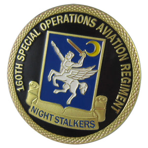 Army Coin: U.S. ARMY 160TH Special Operations Aviation Regiment 24K Gold Plated Challenge Coin