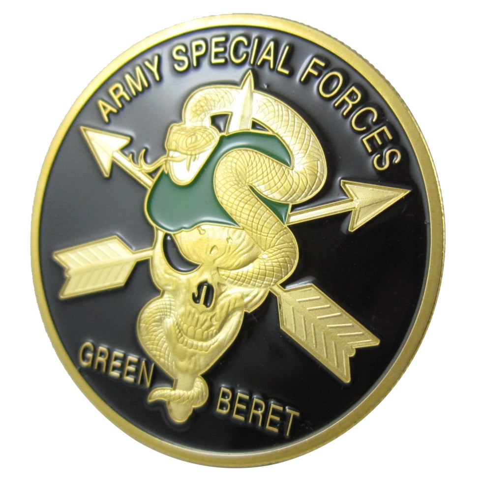 United States Army Special Force-Green Beret Gold Plated Challenge Coin 1001#