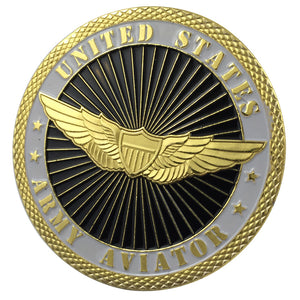 United States ARMY AVIATOR Gold Plated Challenge COIN