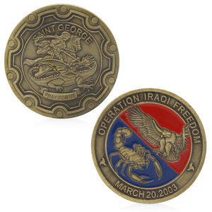 Operation Iraqi Freedom Saint George Commemorative Challenge Coin Souvenir Gift