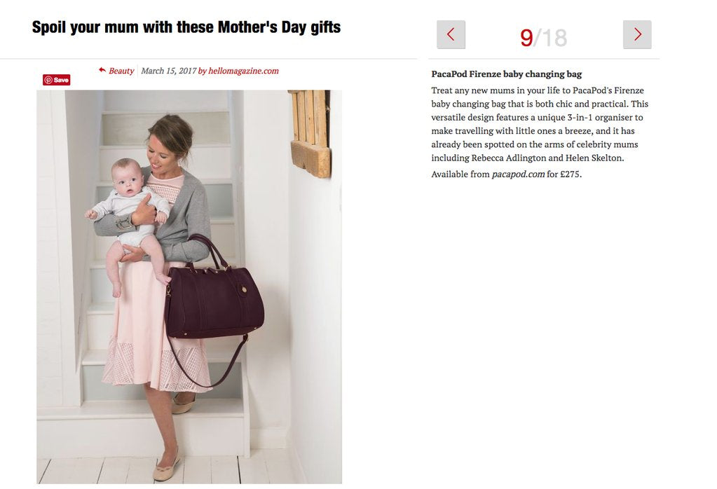 HELLO! MAGAZINE - MOTHER'S DAY GIFT GUIDE