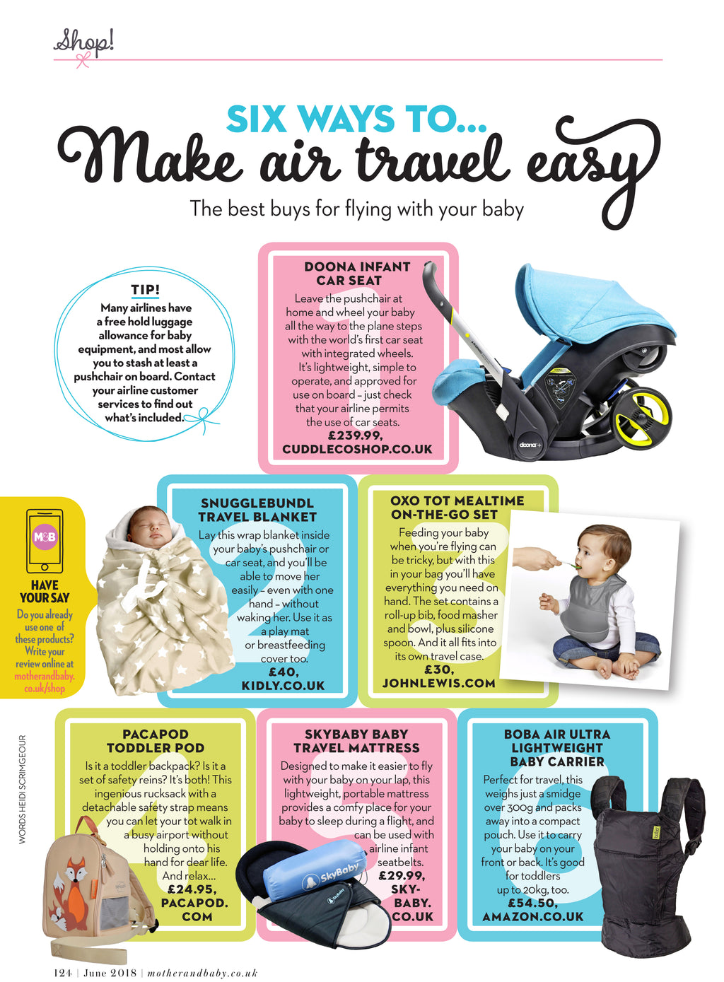 Toddler Pods feature in Mother & Baby Magazine