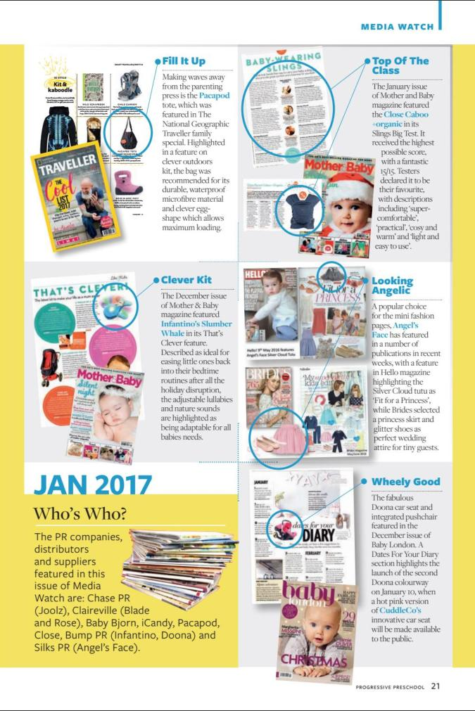 PROGRESSIVE PRESCHOOL JAN/FEB 2017