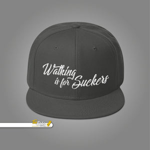Snapback Hat Walking is for Suckers - 3D Puff - 21 different model