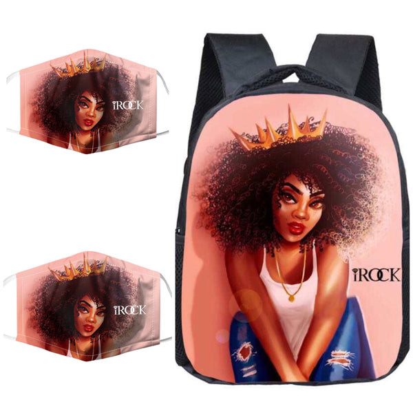 iRock Black Girl Magic Back Pack and Mask Set