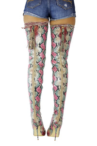 Nelly Bernal Jada Snake Skin Boot