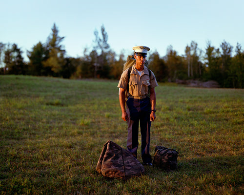 Sale! Private First Class Alba Walking Home, Dalton, New Hampshire, 2002.