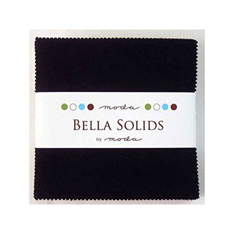 "Bella Solids Blacks Moda Charm Pack By Moda Fabrics; 42-5"" Quilt Squares"
