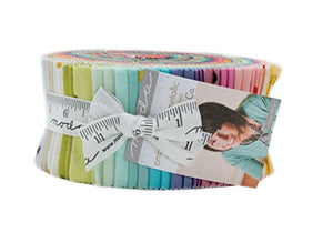 "Metallic Ombre Confetti Jelly Roll - 2.5"" Cotton Strips by V & Co For Moda"