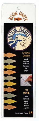 Book Darts - Line Marker Bookmarks (18 Book Darts)