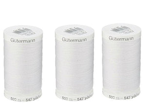 Sew-All, All PurposeThread 547 Yards-Black GUTERMANN Thread 3 Pack