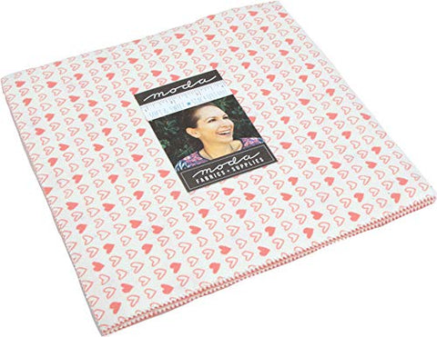 "Image of Soft Sweet Flannel Pink Junior Layer Cake, 20-10"" Precut Fabric Quilt Squares by Stacy Iest HSU"