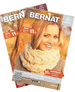 Bernat Softee Chunky Yarn Bundle Super Bulky No. 6, 3 Skeins, Deep Waters