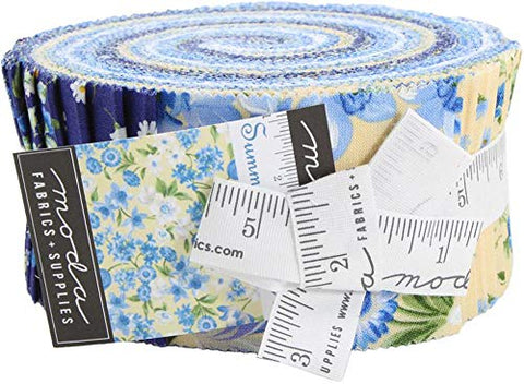 Image of Summer Breeze VI Jelly Roll 40 2.5-inch Strips Moda Fabrics 33370JR, Assorted