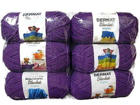 Bernat Blanket Brights Yarn, 5.3oz, 6-Pack