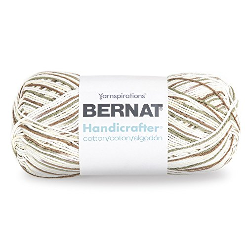 Bernat Handicrafter Cotton Yarn, Gauge 4 Medium Worsted, Salt/Pepper