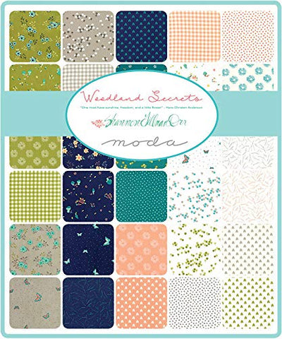 "Image of Woodland Secrets Layer Cake, 42-10"" Precut Fabric Quilt Squares by Shannon Gillman Orr"