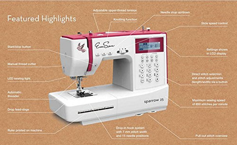 Image of Eversewn - Sparrow 25 -197 Stitch Computerized Sewing Machine