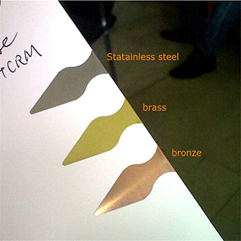 Book Darts 125 Count Tin Bronze Bookmarks - Line Book Markers