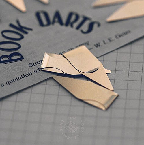 Book Darts 125 Count Tin Brass Bookmarks - Line Book Markers