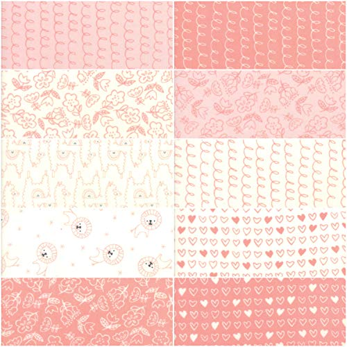 "Soft Sweet Flannel Pink Junior Layer Cake, 20-10"" Precut Fabric Quilt Squares by Stacy Iest HSU"